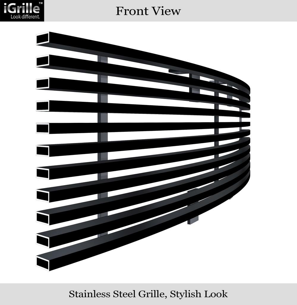 New black billet grilles stainless steel