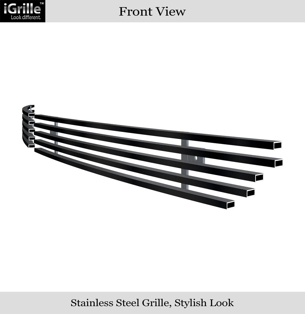 Fits 2004 2008 Chrysler Crossfire Billet Grille Grill: For 2004-2008 Chrysler Crossfire Bumper Black Stainless