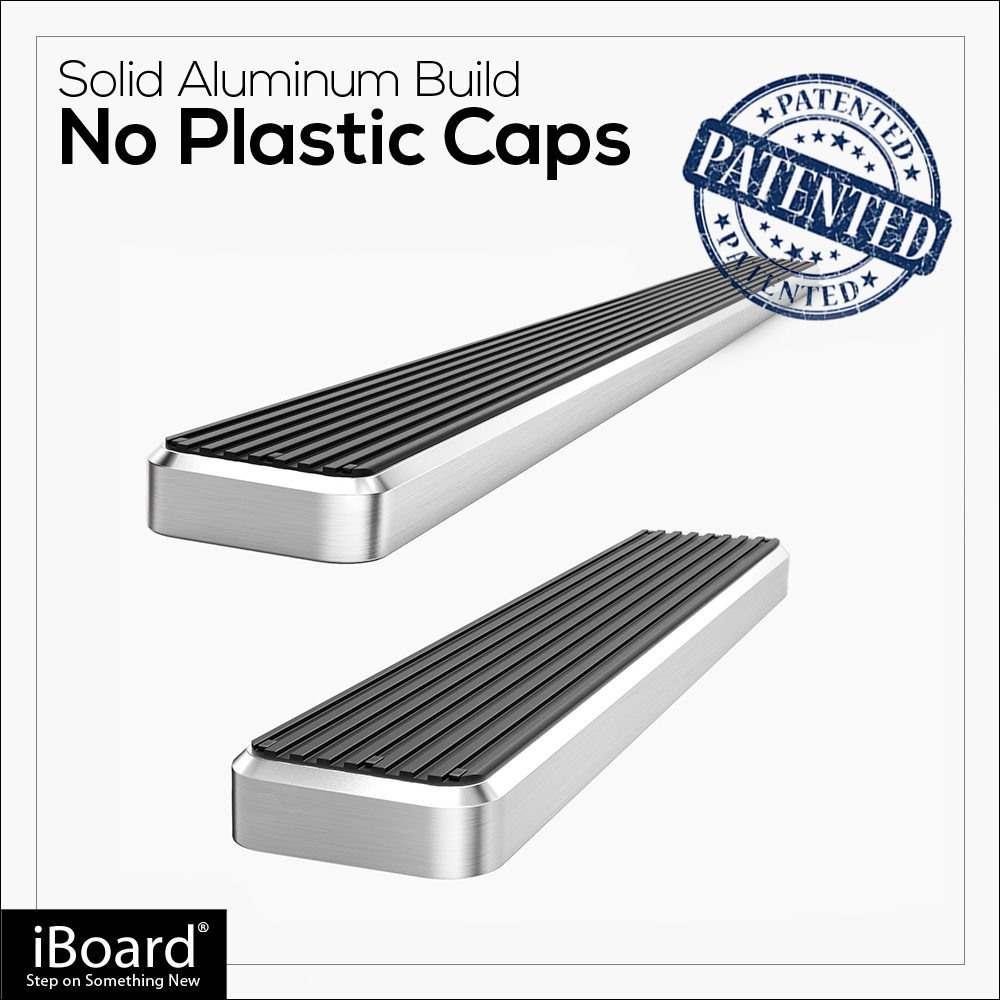 "iBoard Running Boards 6/"" Silver Fit 15-19 Ford Transit Full Size Van"