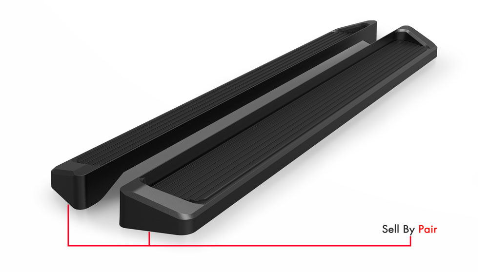 iboard running boards 6 black fit 07 17 chevy silverado. Black Bedroom Furniture Sets. Home Design Ideas