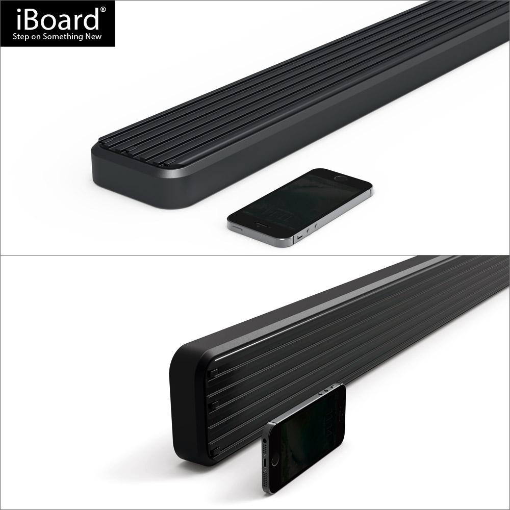 4 black iboard running boards fit 02 09 chevy trailblazer. Black Bedroom Furniture Sets. Home Design Ideas