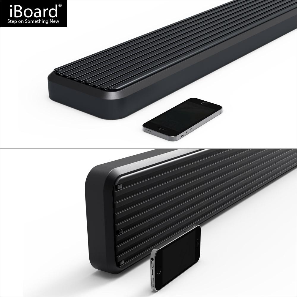 iboard running boards 6 matte black fit 07 17 jeep. Black Bedroom Furniture Sets. Home Design Ideas