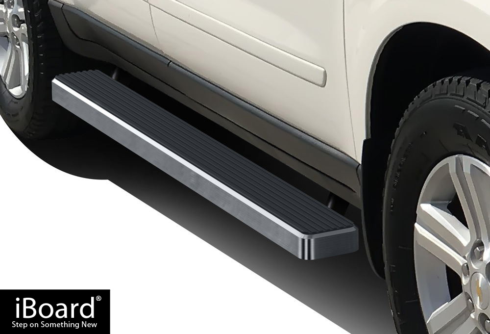 iboard running boards 5 fit 07 17 chevy traverse 07 16. Black Bedroom Furniture Sets. Home Design Ideas