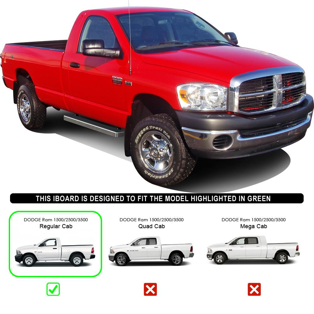 """2008 Dodge Ram 3500 Quad Cab Camshaft: IBoard Running Boards 4"""" Fit 02-08 Dodge Ram 1500/2500"""