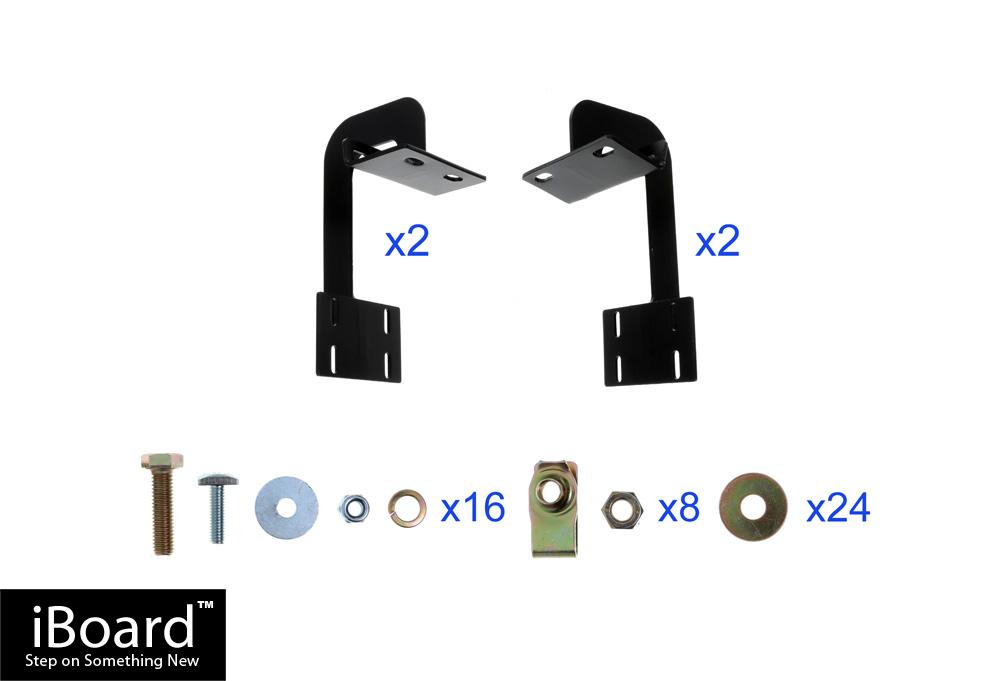 matte black 4 iboard running boards fit 01 03 ford f 150. Black Bedroom Furniture Sets. Home Design Ideas