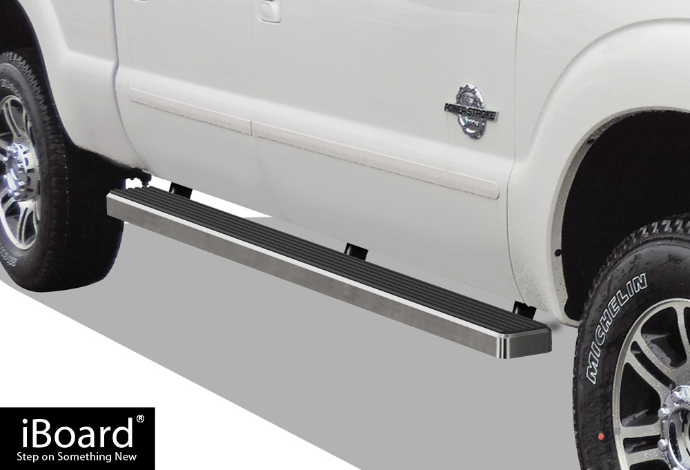 iboard running boards 4 fit 99 16 ford f 250 f 350 f 450 superduty crew cab ebay. Black Bedroom Furniture Sets. Home Design Ideas