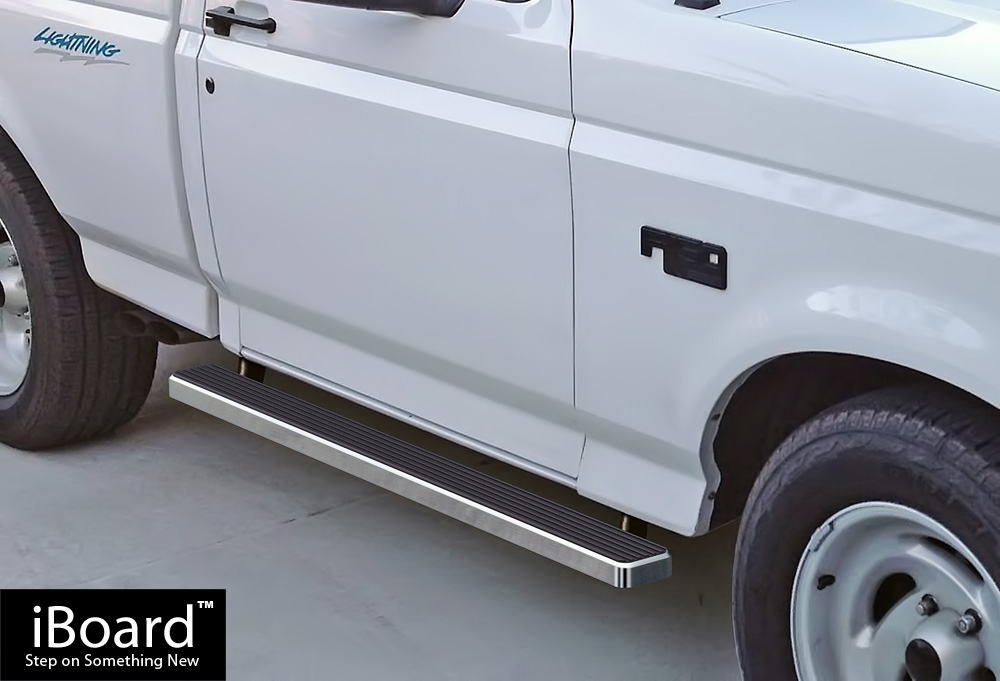 iboard running boards 4 fit 80 96 ford bronco f series. Black Bedroom Furniture Sets. Home Design Ideas