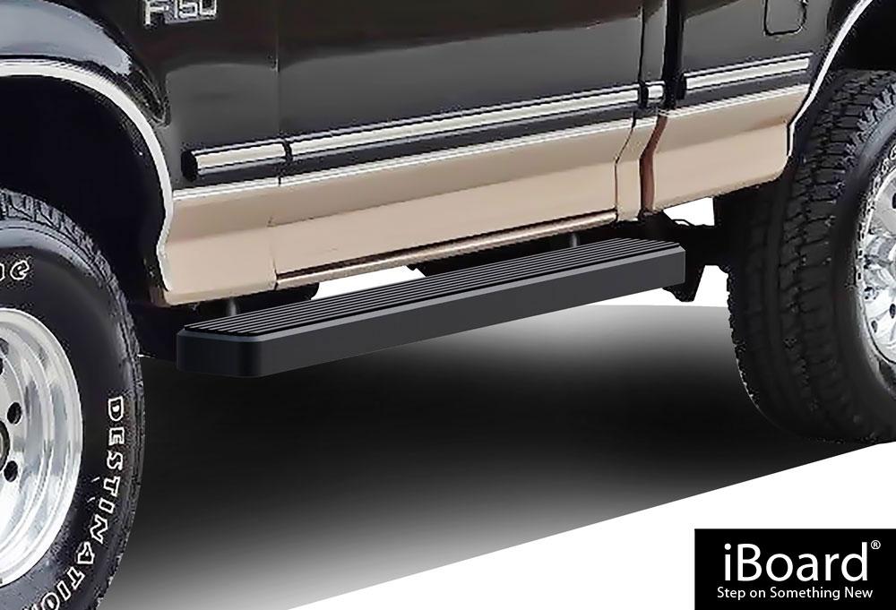 black 5 iboard running boards fit 80 96 ford bronco f. Black Bedroom Furniture Sets. Home Design Ideas