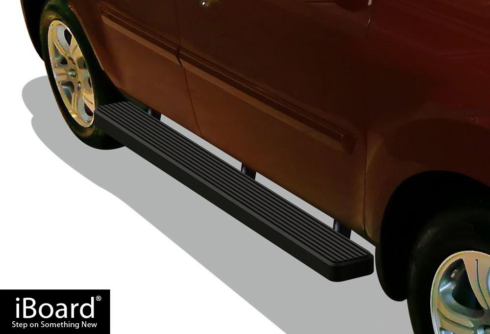 matte black 5 iboard running boards fit 09 15 honda pilot. Black Bedroom Furniture Sets. Home Design Ideas