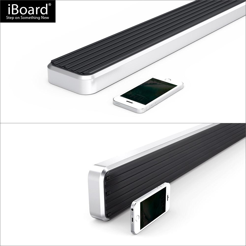 premium 4 iboard running boards fit 09 17 dodge ram 1500. Black Bedroom Furniture Sets. Home Design Ideas