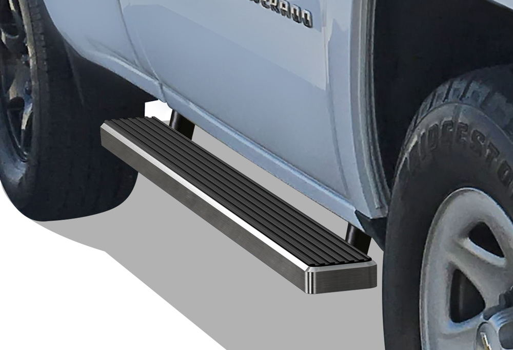 iboard running boards 4 fit 99 16 chevy silverado gmc. Black Bedroom Furniture Sets. Home Design Ideas