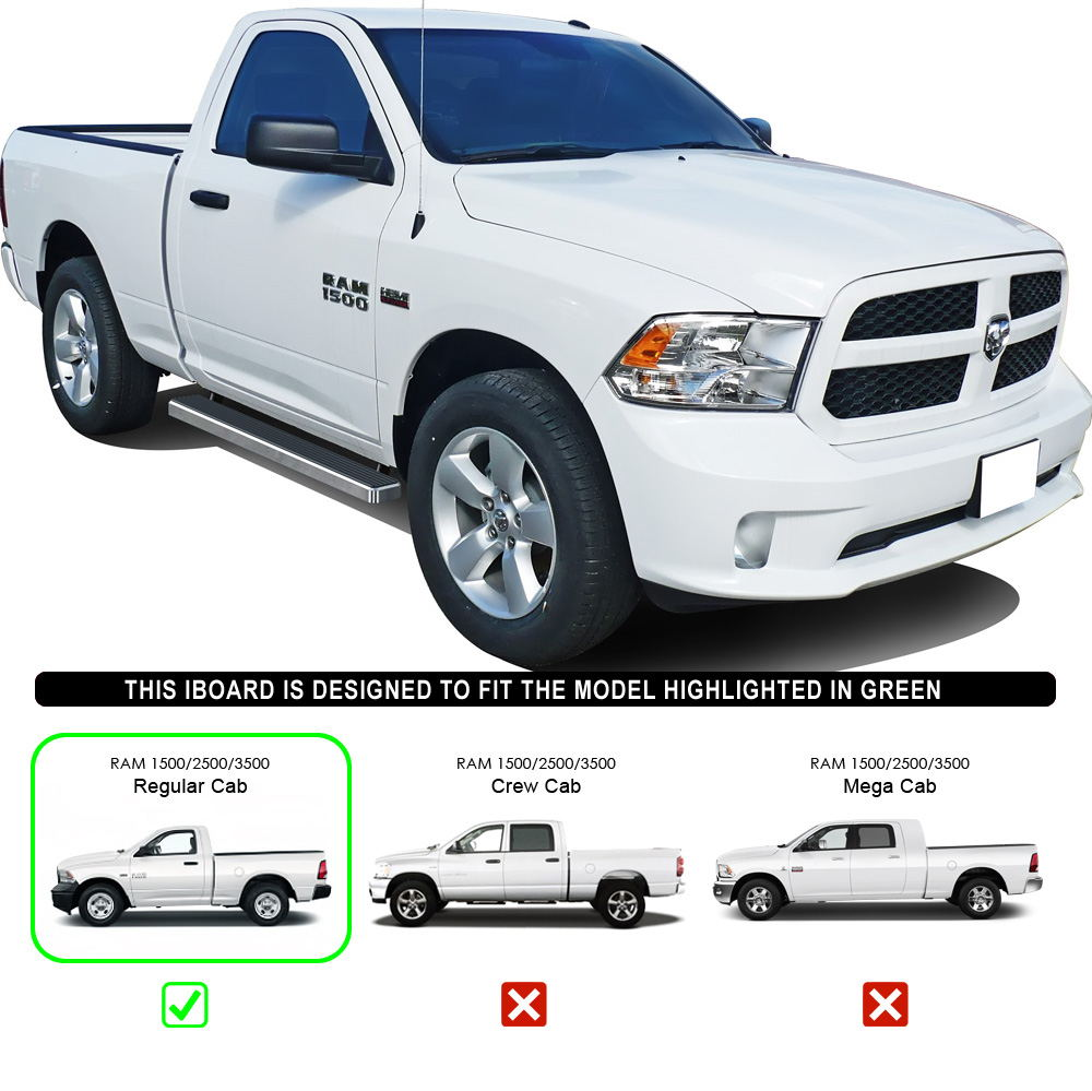 "2010 Dodge Ram 1500 Regular Cab Transmission: Running Boards 4"" Fit 09-17 Dodge Ram 1500 10-17 Dodge Ram"