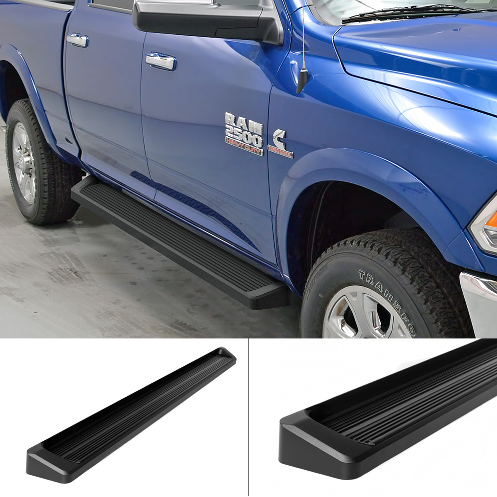 Iboard Running Boards 6 Quot Matte Black Fit 09 17 Dodge Ram