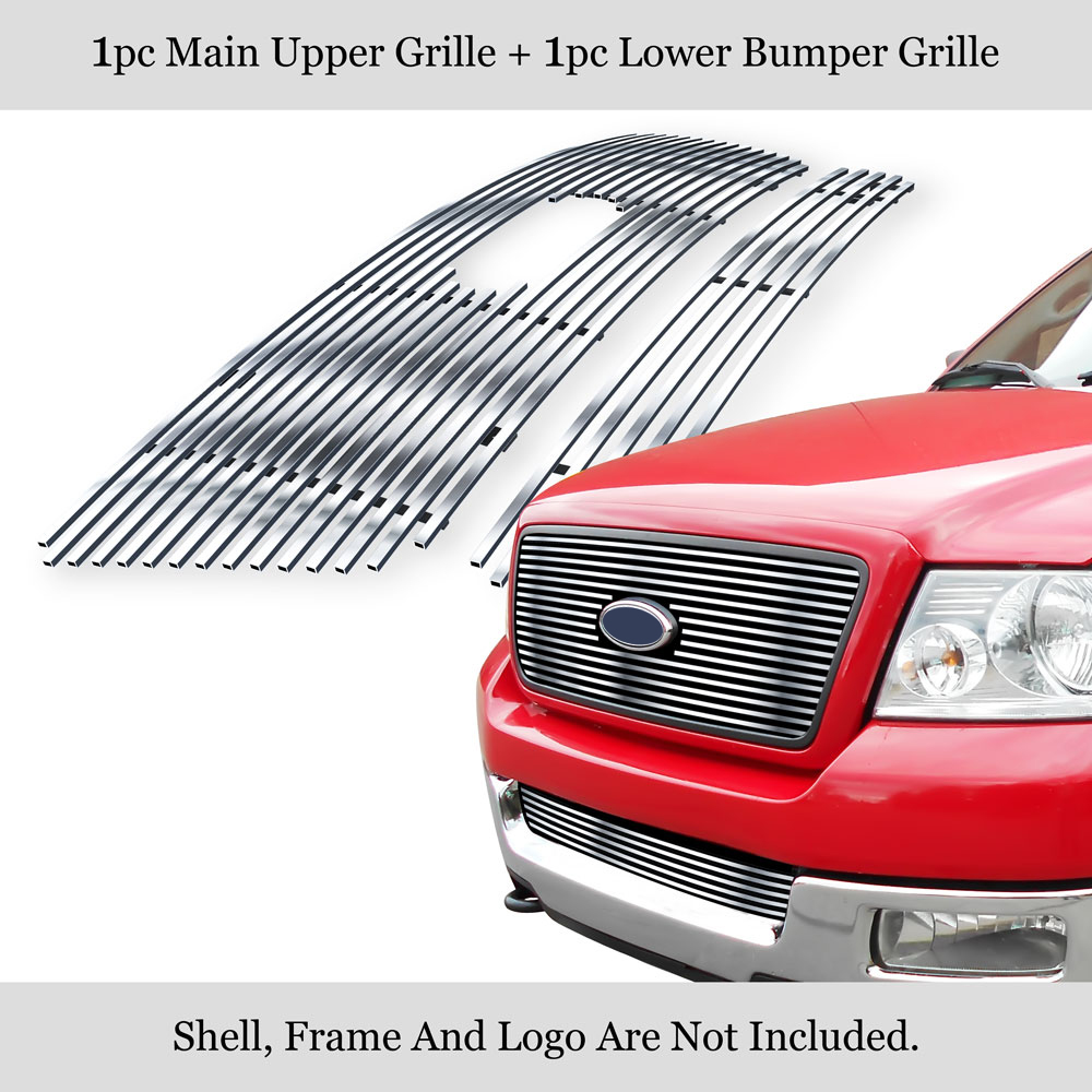 Fits 2004-2005 Ford F-150 Lower Bumper Stainless BGC Billet Grille