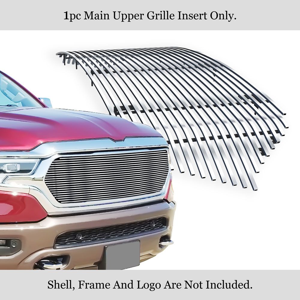 fits 2019 2020 dodge ram 1500 main upper stainless chrome billet grille insert ebay details about fits 2019 2020 dodge ram 1500 main upper stainless chrome billet grille insert