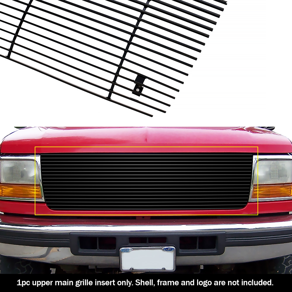 FOR FORD 92-97 BRONCO// F150 F250 PICKUP UPPER REPLACEMENT BILLET GRILLE INSERT