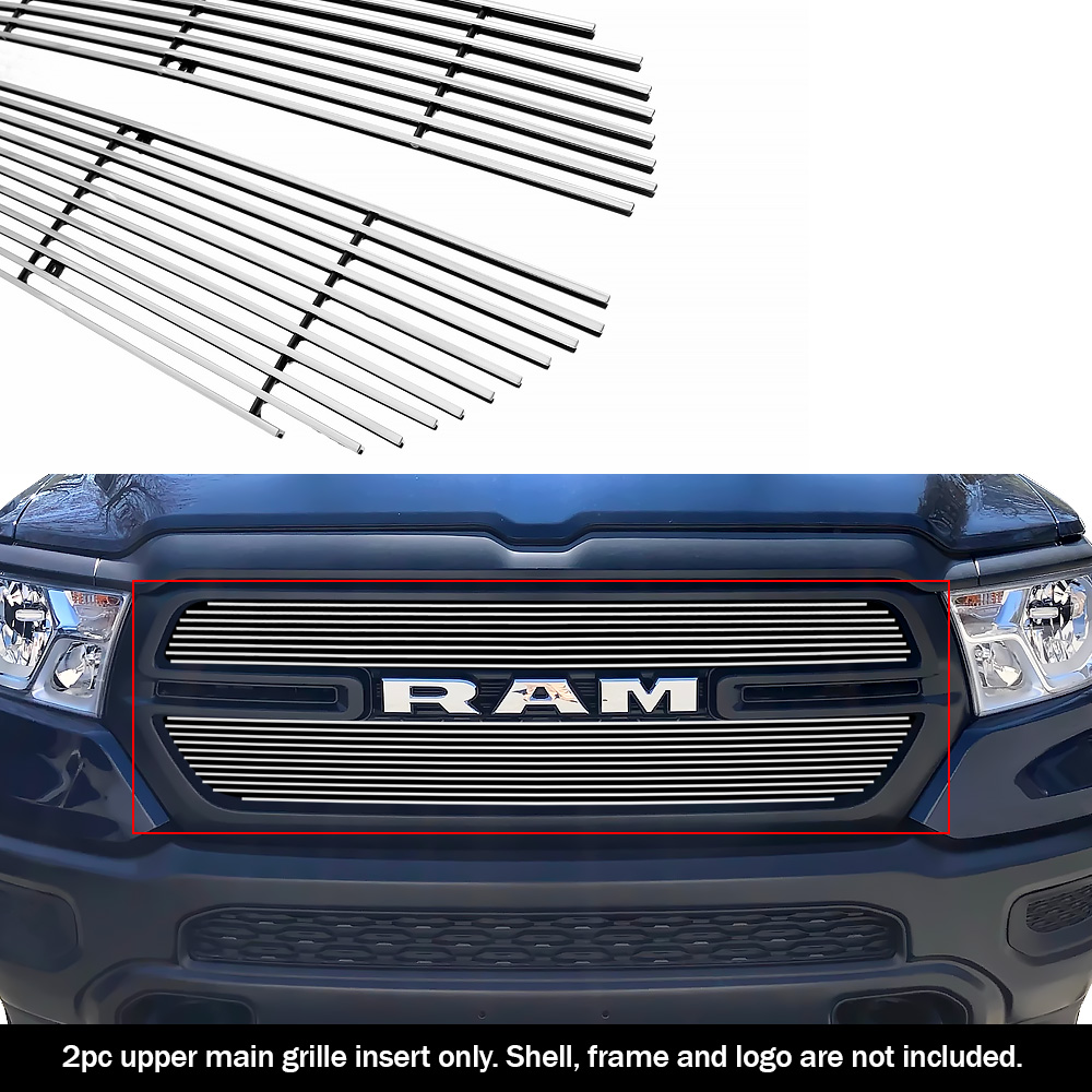 fits 2019 2020 ram 1500 tradesman upper chrome billet grille grill insert ebay details about fits 2019 2020 ram 1500 tradesman upper chrome billet grille grill insert