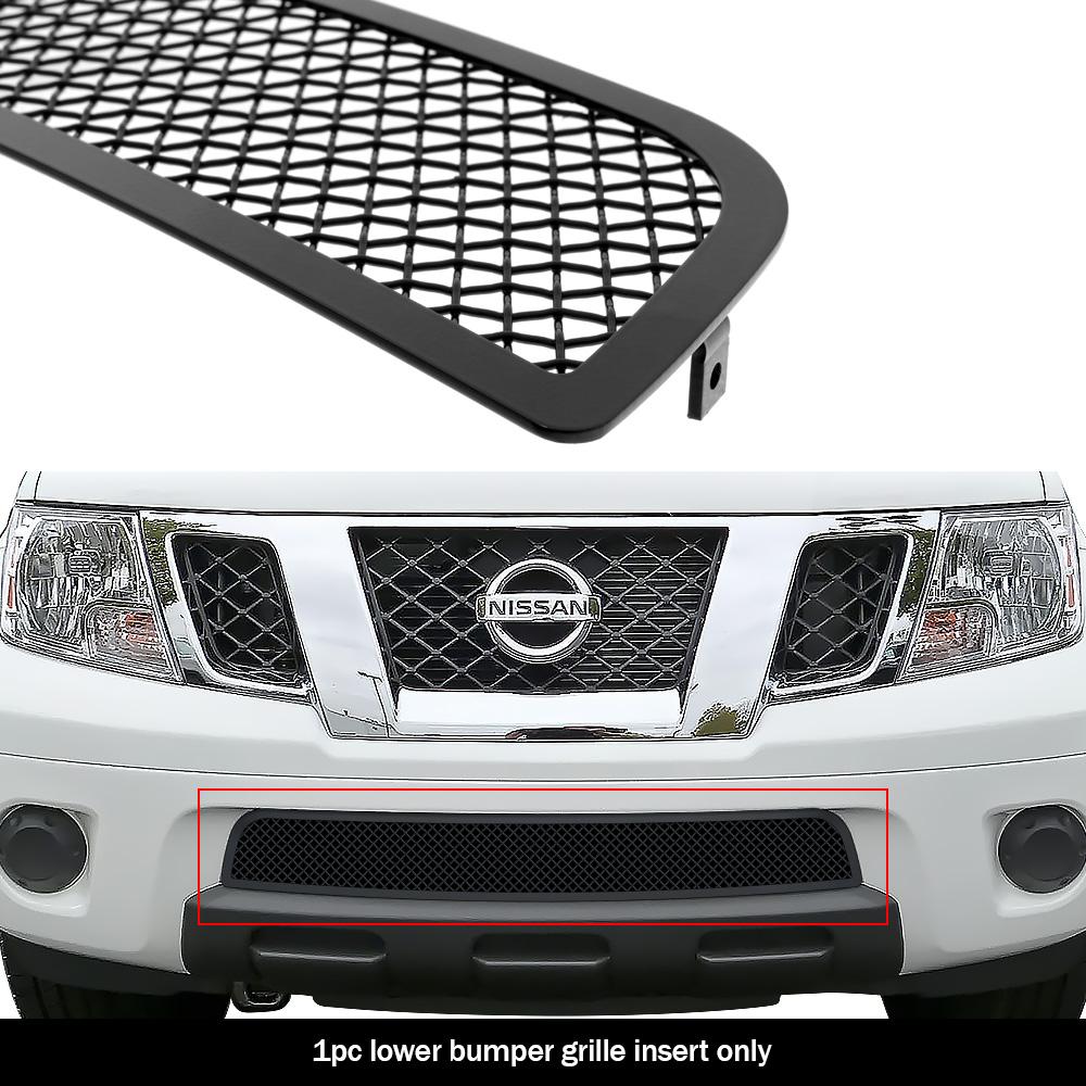 fits 2009 2020 nissan frontier bumper stainless steel black mesh grille insert ebay ebay