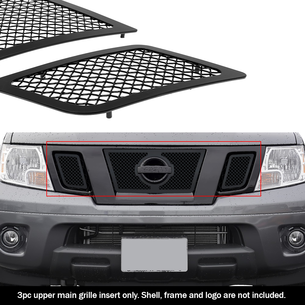 fits 2009 2020 nissan frontier upper stainless black mesh grille grill insert ebay details about fits 2009 2020 nissan frontier upper stainless black mesh grille grill insert