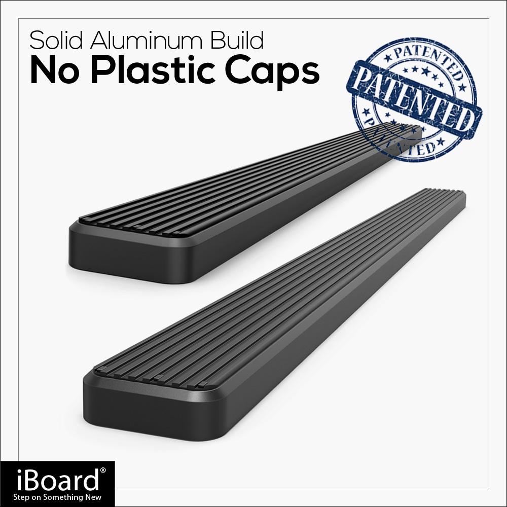 "IBoard Side Steps Nerf Bars 4"" Black Fit 07-10 Acura MDX"