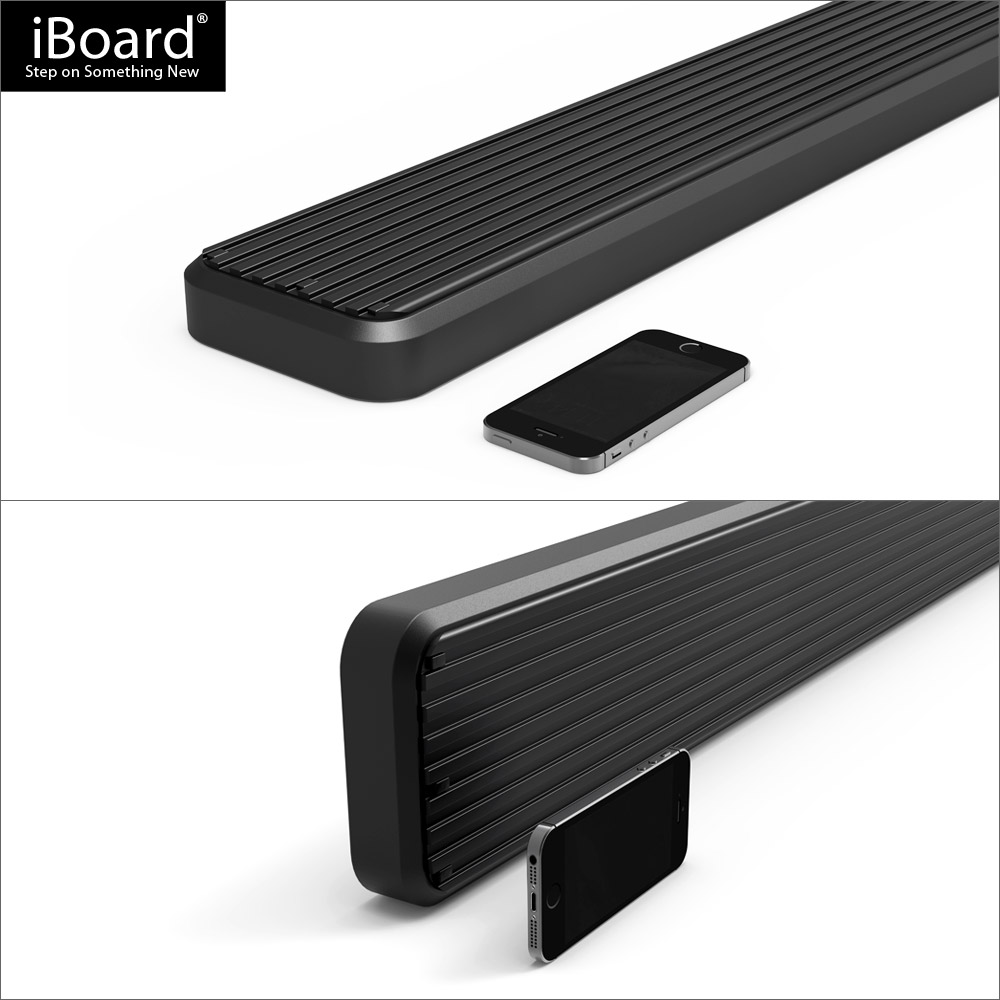 "iBoard Running Boards 5/"" Matte Black Fit 15-19 Ford Transit Full Size Van"