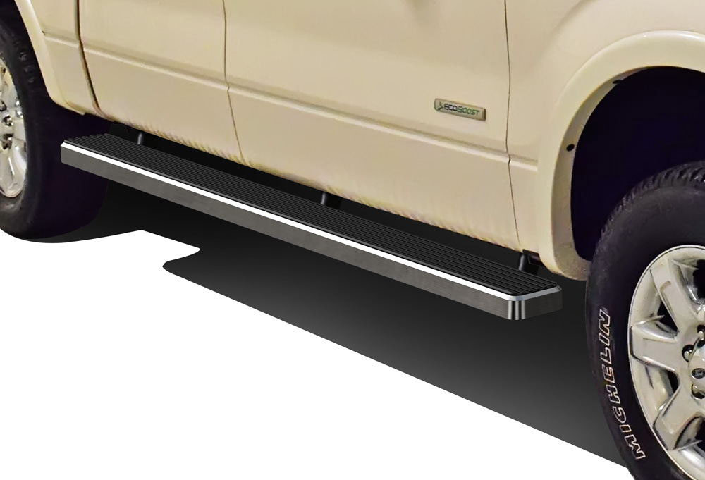 Running Board Side Step 4in Silver Fit Ford F150//F250LD SuperCrew Cab 01-03