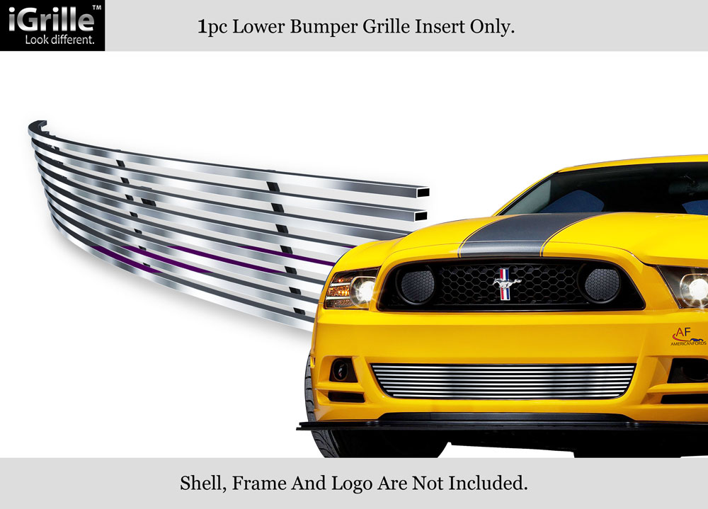 Fits 2013-2014 Ford Mustang GT Stainless Steel Bumper Billet Grille Inserts
