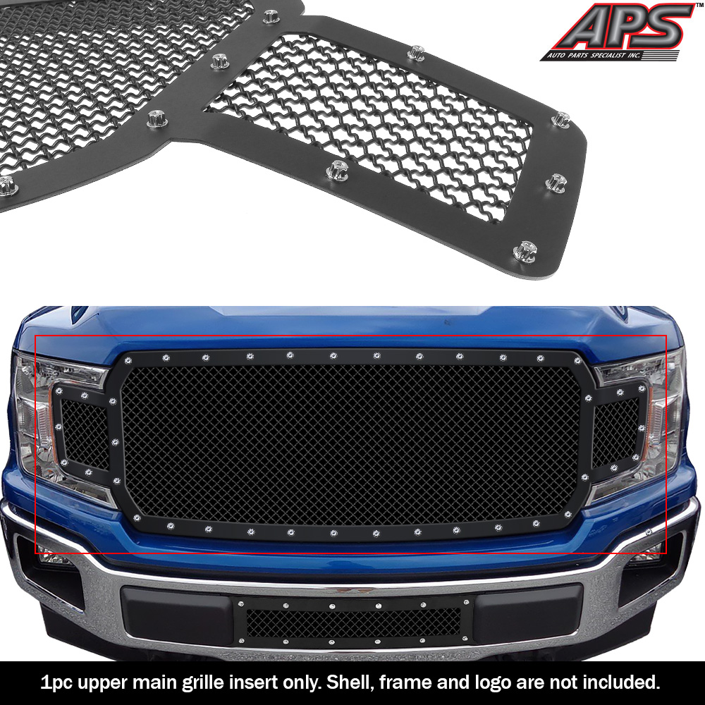 Fits Ford F150 XL//SLT//STX Stainless Mesh Grille 09-11