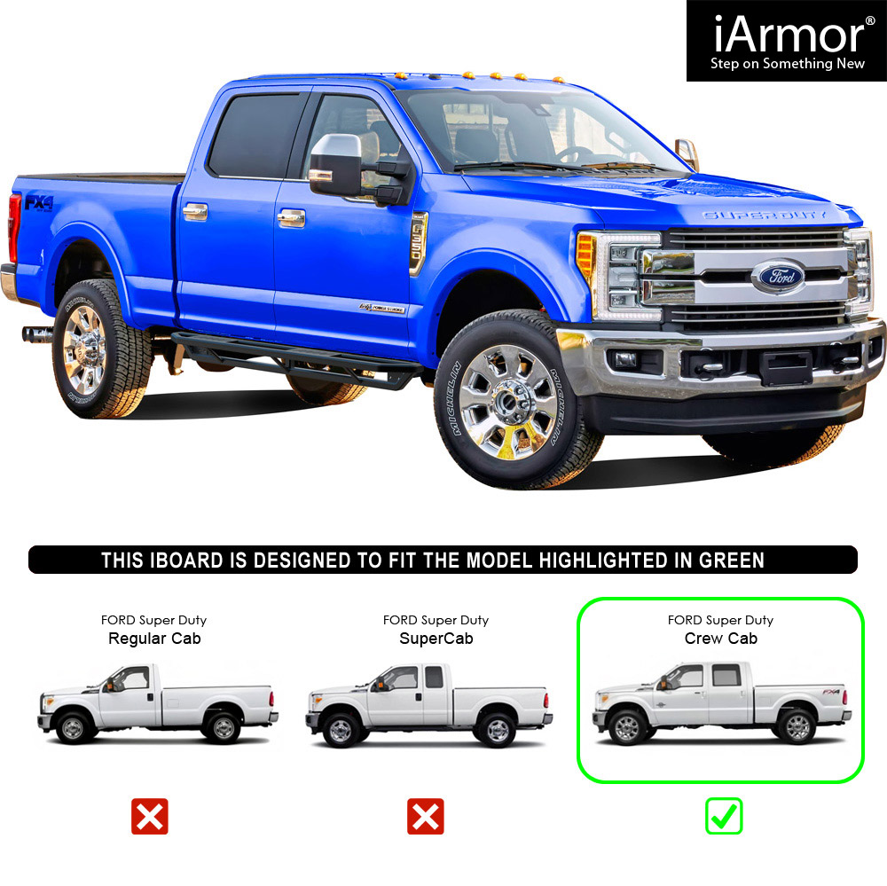 IArmor Off-Road Side Steps Armor For 99-16 Ford F250/F350