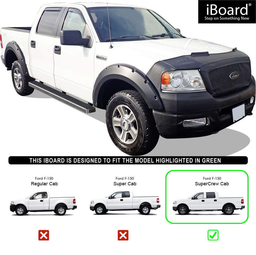 F150 Supercrew Cab >> Details About 5 Iboard Running Boards Nerf Bars Fit 04 08 Ford F150 Supercrew Cab