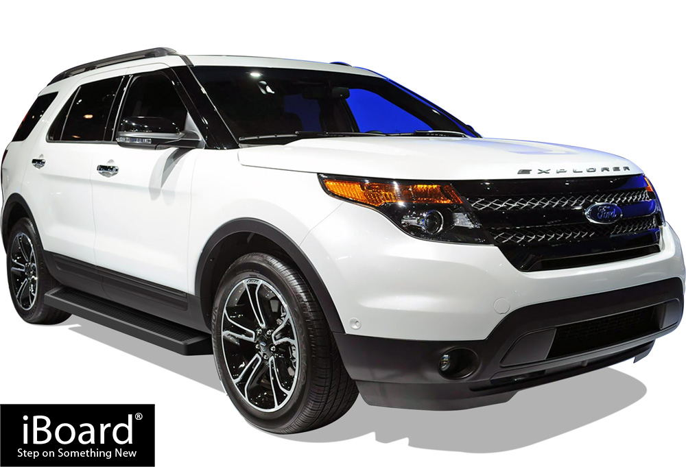IBoard Running Boards 6 Matte Black Fit 11 17 Ford Explorer 4 Door IB FR927B