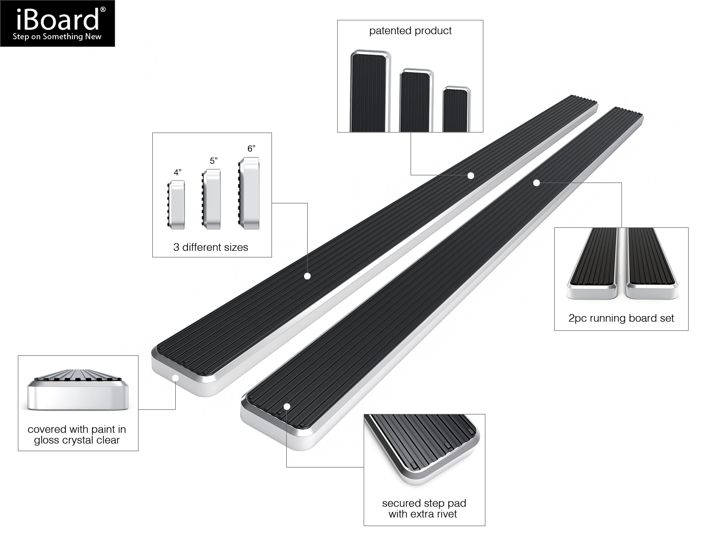 5 Quot Iboard Running Boards Nerf Bars Fit 03 17 Ford