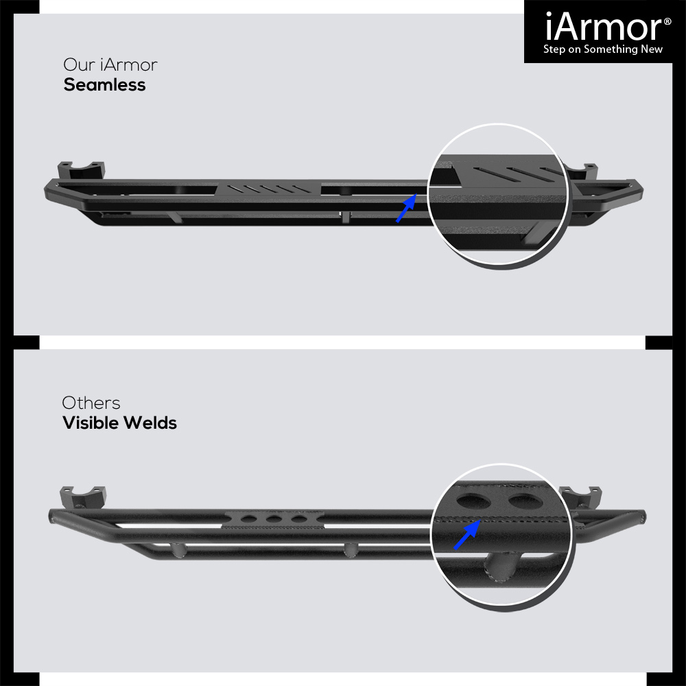 "IArmor 6.5"" Side Steps Side Armor Square For 07-18"