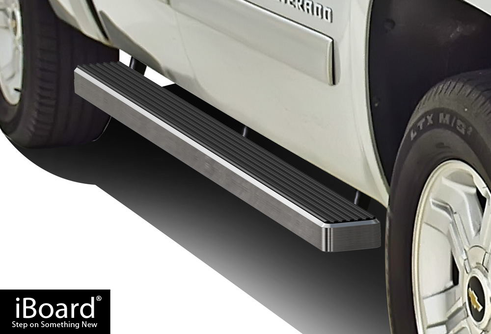 iboard running boards 4 fit 01 13 chevy silverado gmc. Black Bedroom Furniture Sets. Home Design Ideas