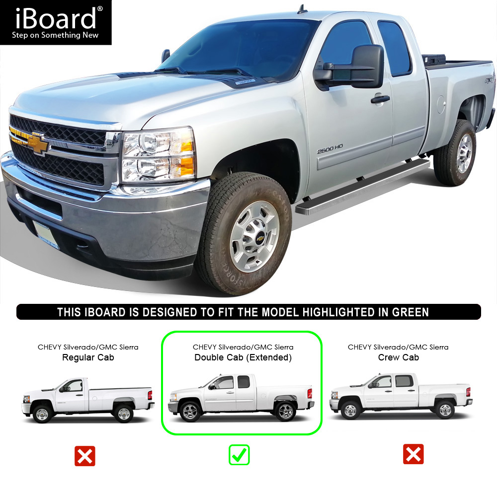 "IBoard Running Boards 4"" Fit 99-13 Chevy Silverado/GMC"