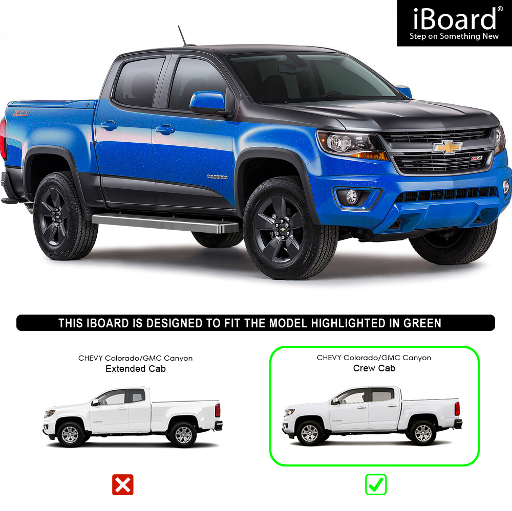 "IBoard Running Boards 6"" Fit 15-17 Chevy Colorado GMC"