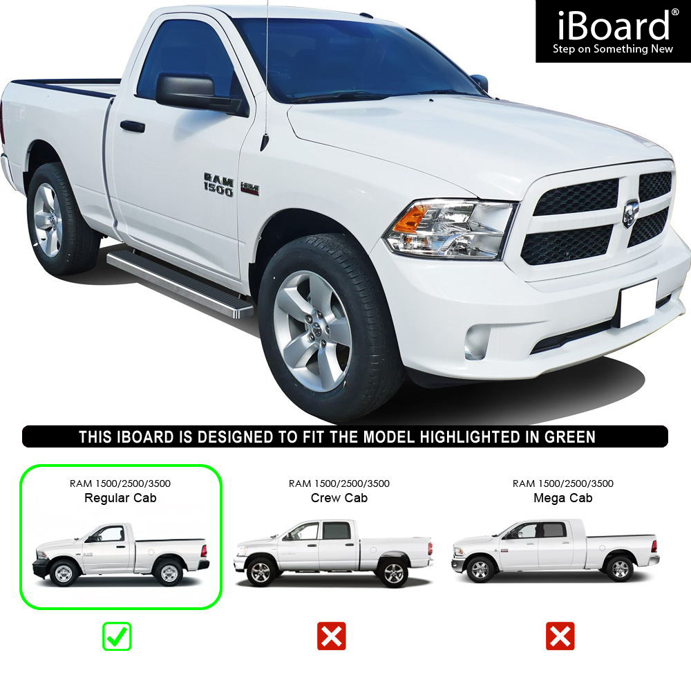 "IBoard Running Boards 4"" Fit 09-18 Dodge Ram 1500/2500"