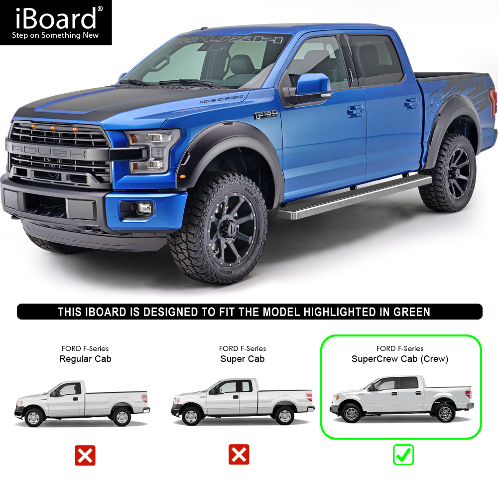 "IBoard Running Boards 5"" Fit 15-18 Ford F150 SuperCrew Cab"