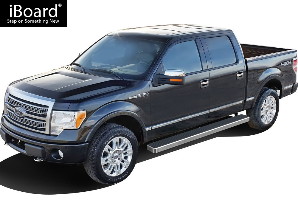 """iboard running boards 6"""" fit 09-14 ford f150 supercrew cab 