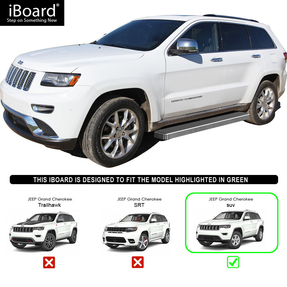 "iboard running boards 6"" fit 11-17 jeep grand cherokee 