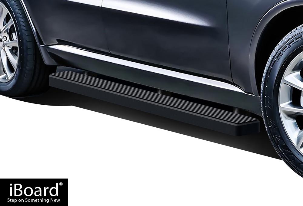 iboard running boards 5 matte black fit 11 18 dodge. Black Bedroom Furniture Sets. Home Design Ideas