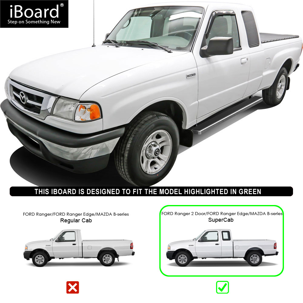"""Ford Ranger 2 2 Supercab For Sale: IBoard Running Boards 4"""" Fit 98-11 Ford Ranger/Mazda B"""