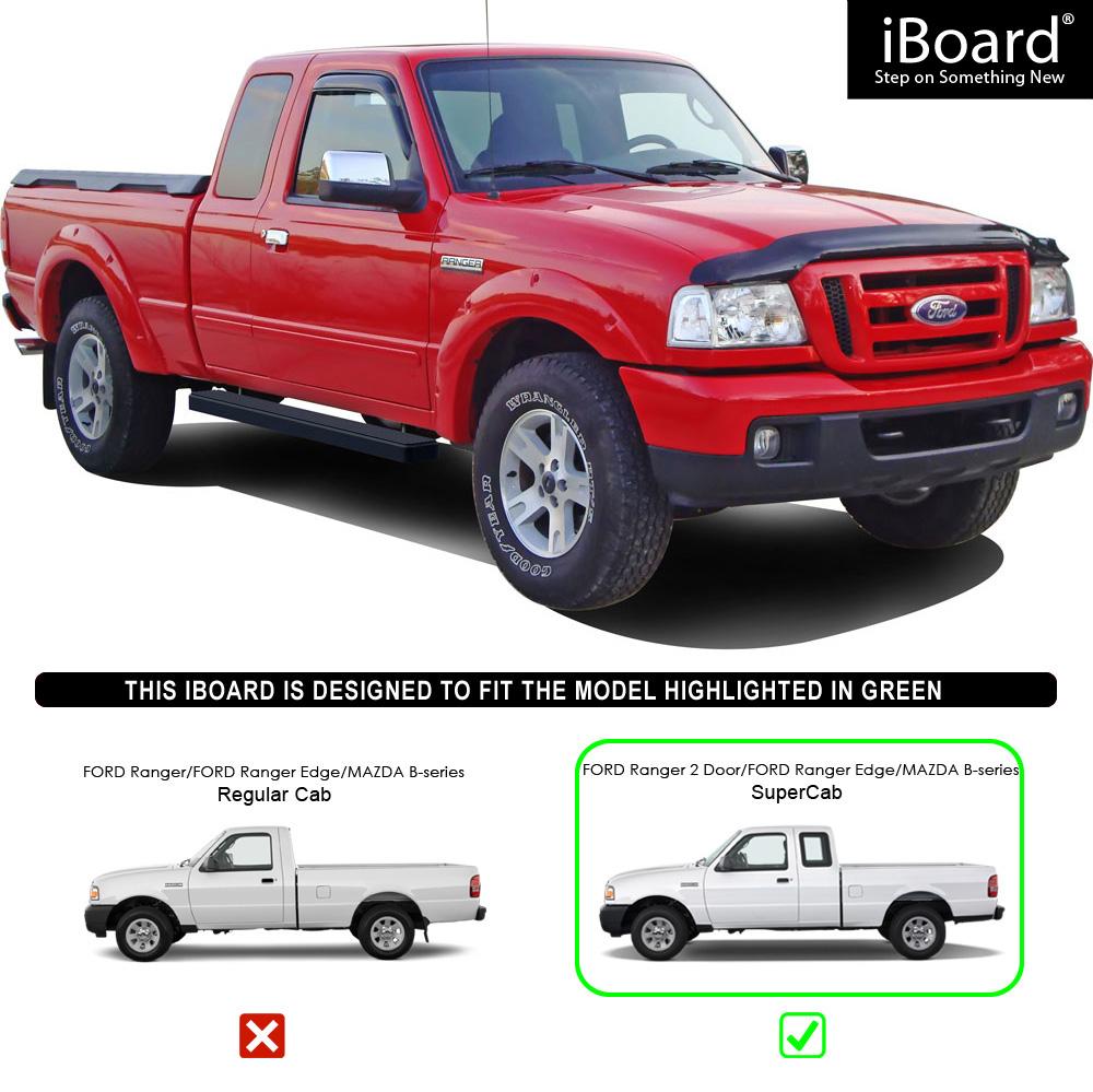 "Ford Ranger 2 2 Supercab For Sale: IBoard Running Boards 5"" Matte Black Fit 98-11 Ford Ranger"